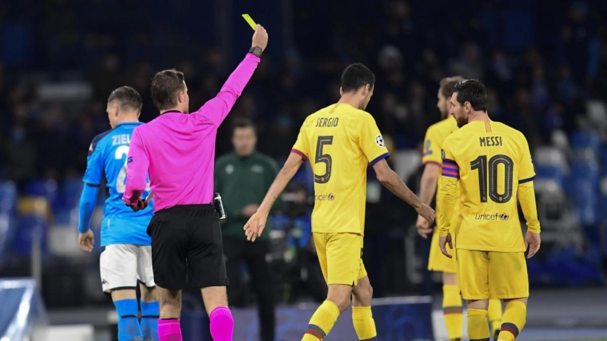 Sergio Busquets estaba apercibido de sanción en la Champions