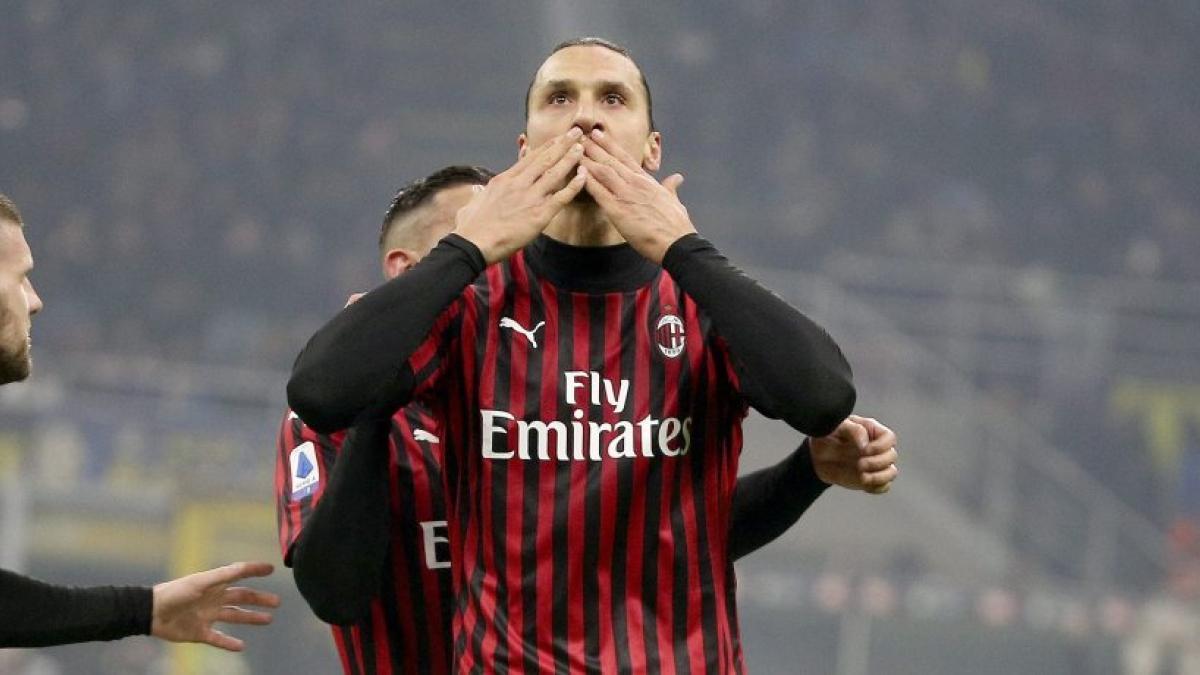 Zlatan Ibrahimović se siente como en casa en el AC Milan