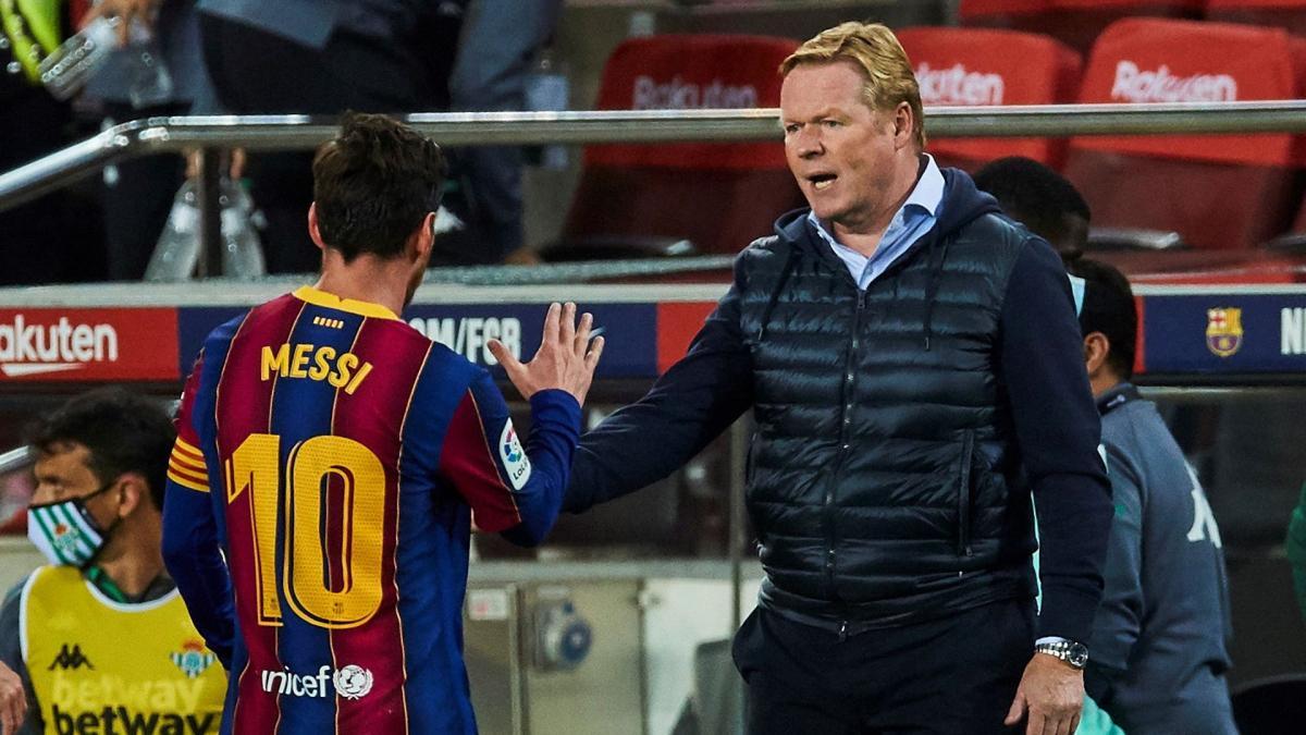 Ronald Koeman no confía en que Lionel Messi siga en Barcelona más allá de 2021