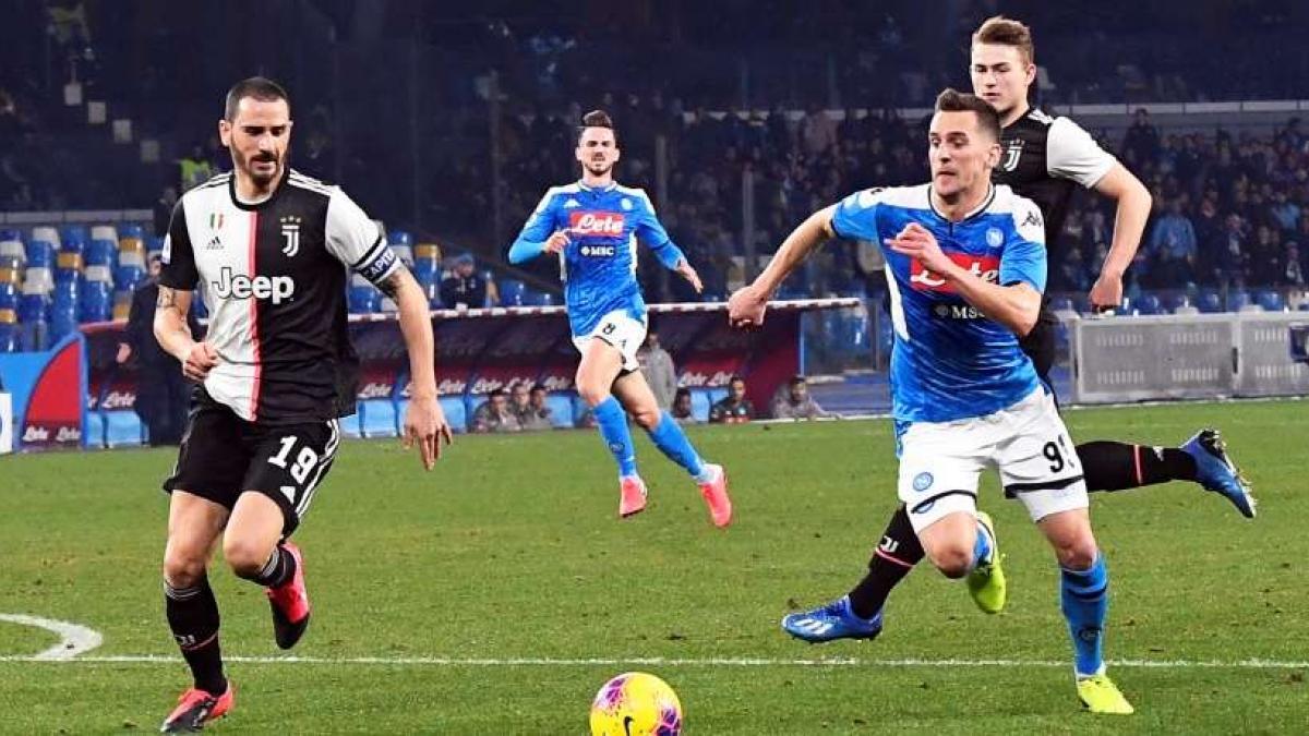 Partido interesante en San Paolo entre Nápoles y Juventus