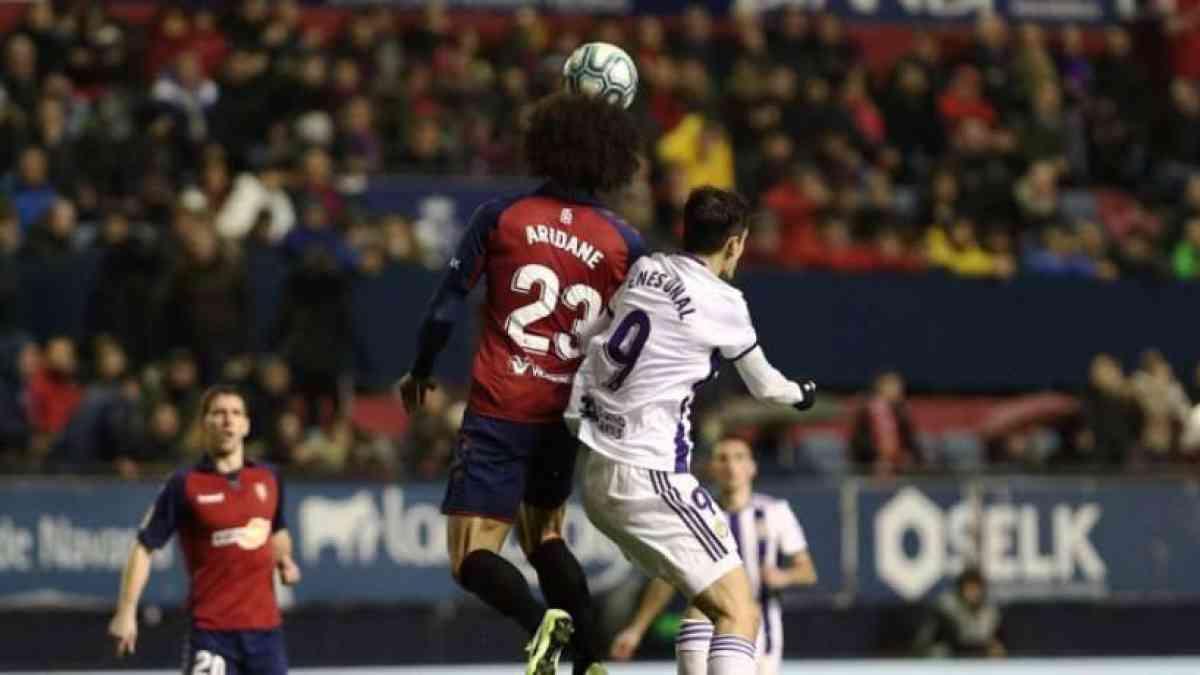 Partido muy igualado en Pamplona entre Osasuna y Real Valladolid