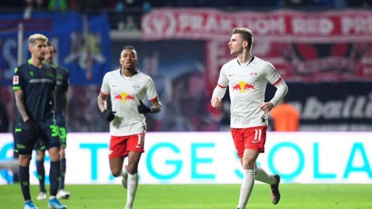 Timo Werner ha sumado un doblete con el RB Leipzig