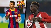 Confirmados los onces de FC Barcelona y Athletic de Bilbao