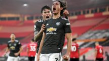 El Manchester United quiere retener a Edinson Cavani
