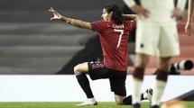 El Manchester United anuncia la renovación de Edinson Cavani