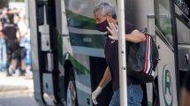 La resignación de Quique Setién tras el empate del FC Barcelona