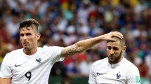 Karim Benzema atiza a Olivier Giroud