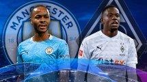 Las alineaciones del Manchester City - Borussia de M'gladbach