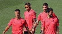 Real Madrid   Tres jugadores en la rampa de salida