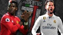 De Pogba a Isco, los 5 centrocampistas en la nómina de futuribles de la Juventus