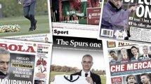 El primer fichaje de José Mourinho en el Tottenham, los 2 grandes protagonistas del mercado invernal en Italia