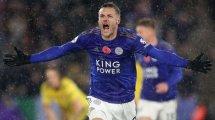 Jamie Vardy continúa inspirado en el Leicester City