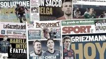 """Último capítulo del """"culebrón Griezmann"""", el Inter cierra un anhelado fichaje, nueva ofensiva de la Juventus por Chiesa"""