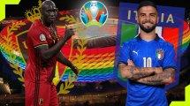 Las alineaciones del Bélgica  - Italia