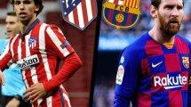 ¡Ya hay onces de Atlético de Madrid y FC Barcelona!