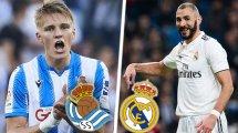 Confirmados los onces de Real Sociedad y Real Madrid