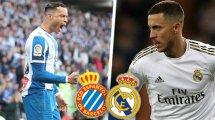 Confirmados los onces de Espanyol y Real Madrid