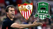 Ya hay alineaciones de Krasnodar y Sevilla