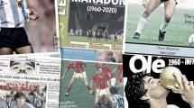 La prensa internacional rinde homenaje a Diego Maradona
