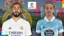 Confirmados los onces de Real Madrid y Celta de Vigo