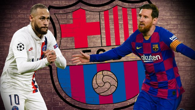 Neymar y Leo Messi