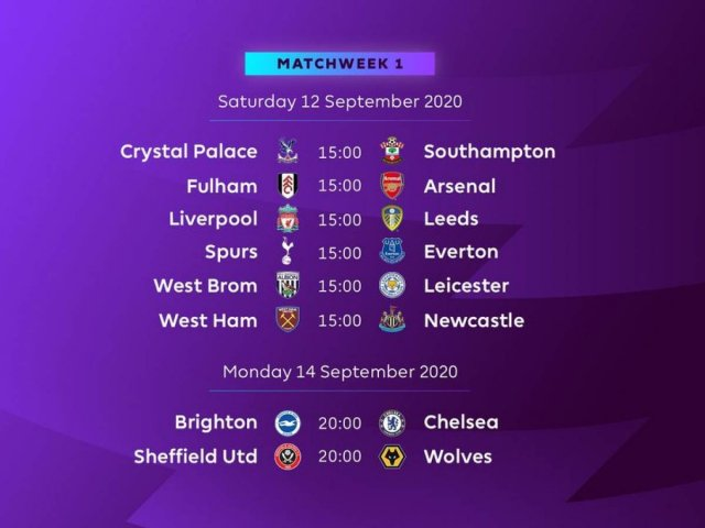 La Premier League desvela su calendario para la 2020 2021