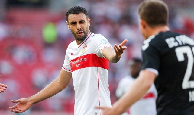 Hamadi Al Ghaddioui en un partido con el VfB Stuttgart