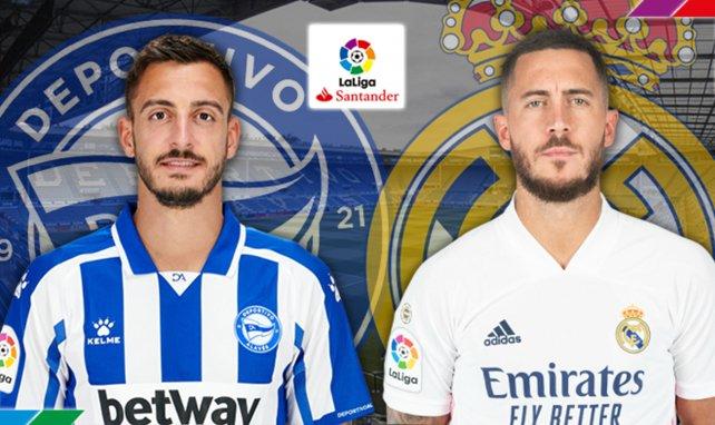 Ya hay alineaciones de Deportivo Alavés y Real Madrid