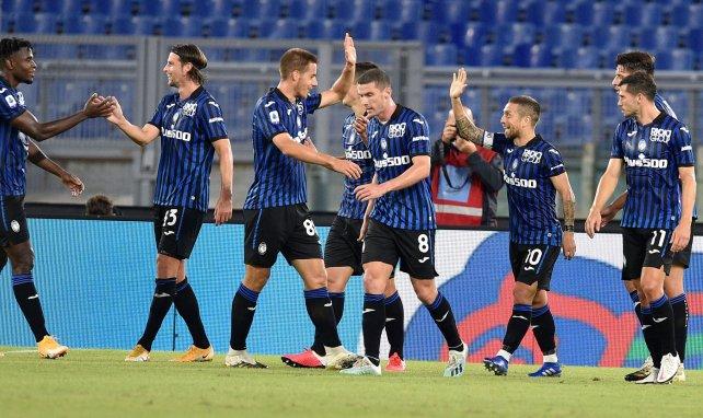 El Atalanta celebra un gol