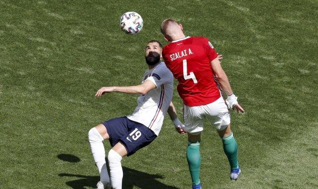 Attila Szalai, en un choque con la Selección de Hungría