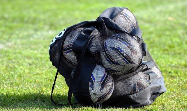Los balones después de un entrenamiento