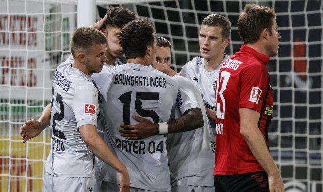 El Bayer Leverkusen celebra el gol