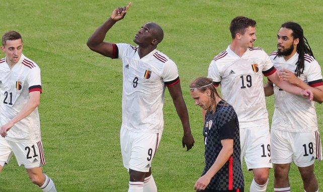 Romelu Lukaku celebra un gol con Bélgica