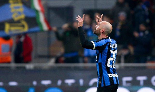 Borja Valero durante su etapa en el Inter