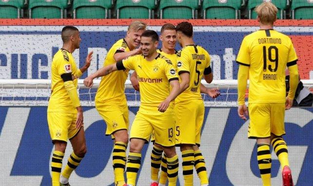 El Borussia de Dortmund celebra el primer gol