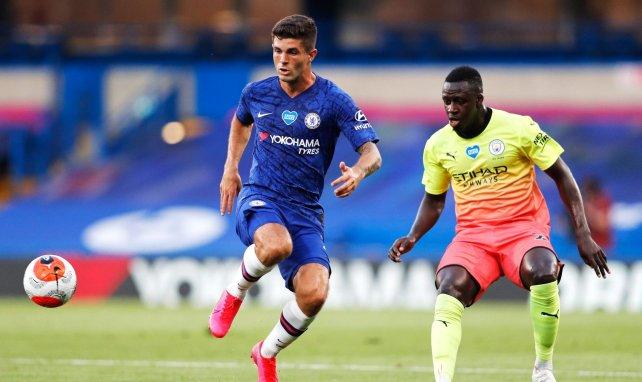 Christian Pulisic, en acción con el Chelsea