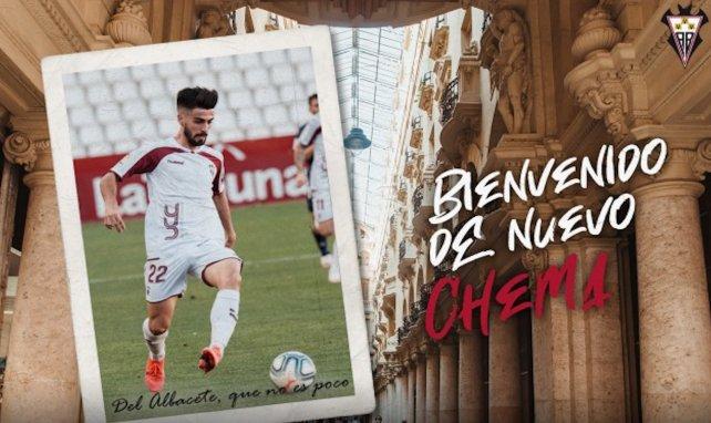El Albacete se hace con Chema Núñez