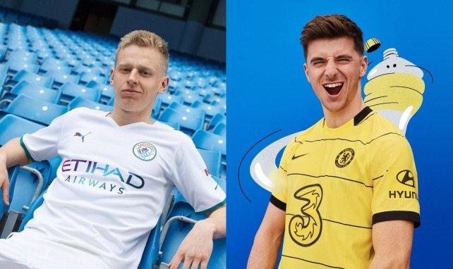 Las nuevas camisetas visitantes de Manchester City y Chelsea