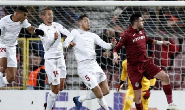 Europa League   El Sevilla no reacciona y se obliga a pasar otro mal rato