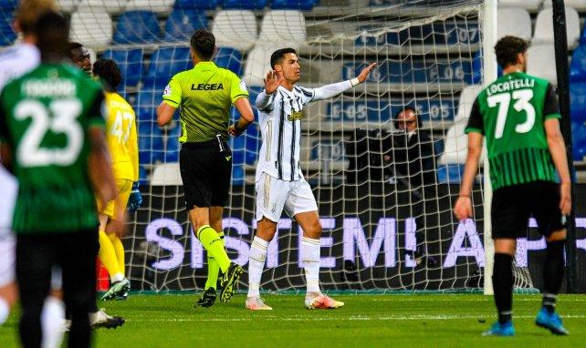 Cristiano Ronaldo, en un choque con la Juventus