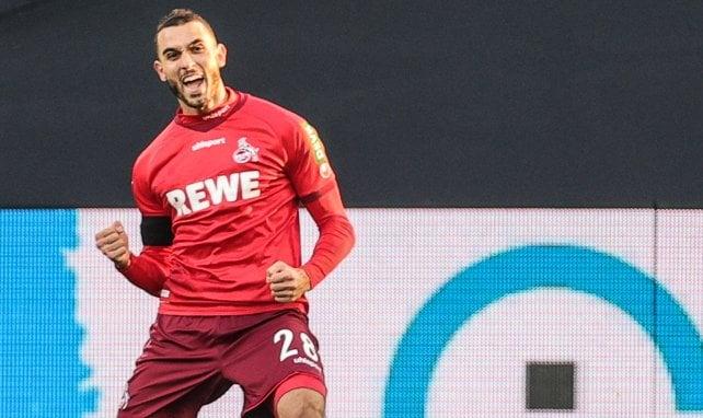 Ellyes Skhiri celebrando con el 1. FC Köln