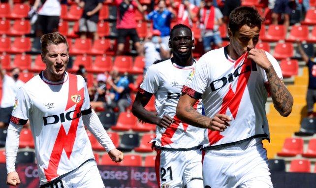 Jugadores del Rayo celebrando un gol