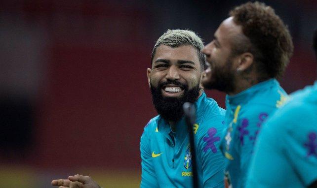 Gabigol con Neymar