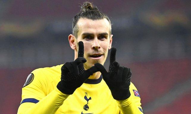 Gareth Bale celebra un gol con el Tottenham