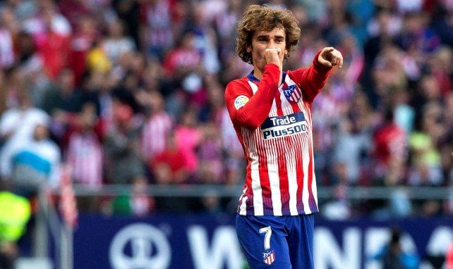 Antoine Griezmann festeja un tanto con el Atlético de Madrid