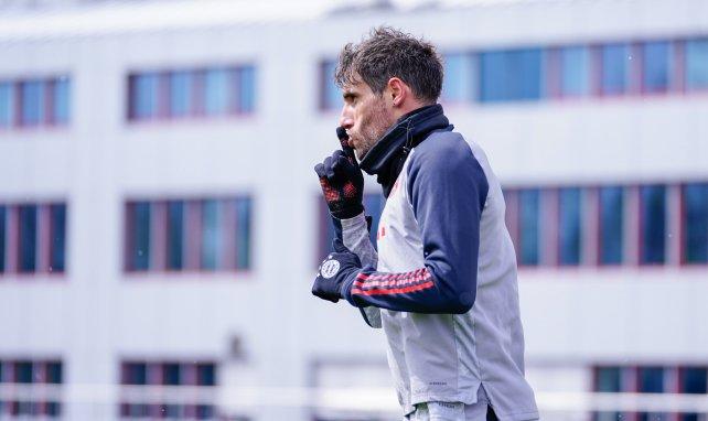 Javi Martínez, durante un entrenamiento con el Bayern Múnich