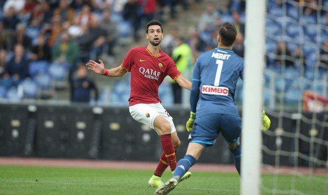 Javier Pastore, durante un partido con la AS Roma