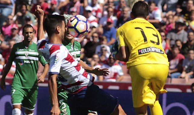 Jon Ander Serantes defendió la meta del Leganés.