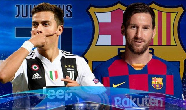Las alineaciones del Juventus - FC Barcelona