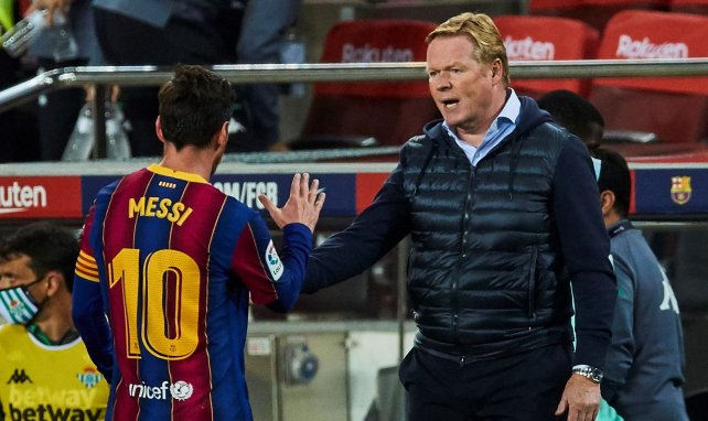 Ronald Koeman  felicita a Leo Messi
